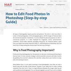 How to Edit Food Photos in Photoshop (Step-by-step Guide) - MAP Systems