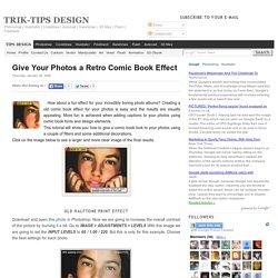 Give Your Photos a Retro Comic Book Effect