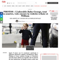 PHOTOS – L'ado­rable Baby George, tout en sourire, vole encore la vedette à Kate et William