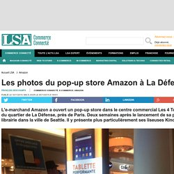 Les photos du pop-up store Amazon à La Défense