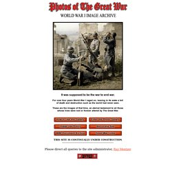 Photos of The Great War