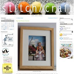 Pop-out Photos Tutorial « Stitch-Craft