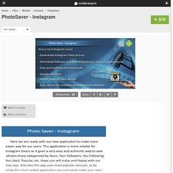 PhotoSaver - Instagram - Mobile