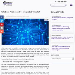 What are Photosensitive Integrated Circuits?