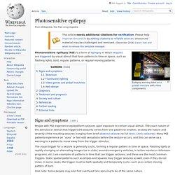 Photosensitive epilepsy - Wikipedia