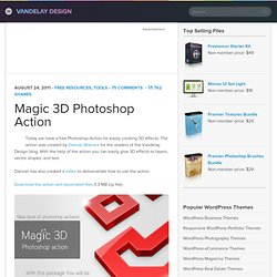 Magic 3D Photoshop Action