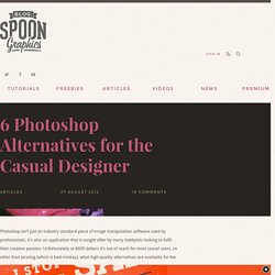 6 Photoshop Alternatives for the Casual Designer