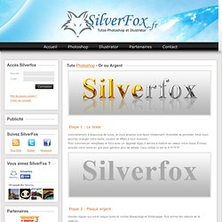 Tuto Photoshop - Argent ou Or// SilverFox