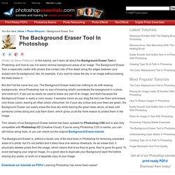 Photoshop Background Eraser Tutorial