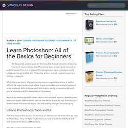 Learn Photoshop: All of the Basics for Beginners