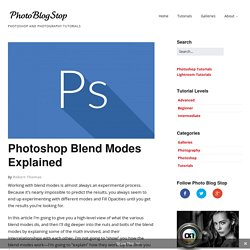 A Detailed Explanation of How Photoshop Blend Modes Work - Photoshop Blend Modes Explained | Photo Blog Stop