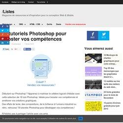 18 tuto Photoshop pour booster vos compétences