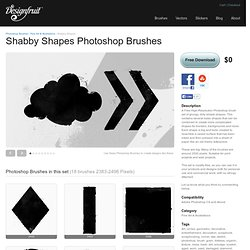 Shabby Shapes Photoshop Brushes by Designfruit