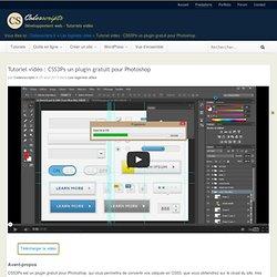 Tutoriel vidéo : CSS3Ps un plugin gratuit pour Photoshop