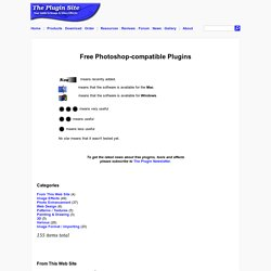 The Plugin Site - Free Photoshop-compatible Plugins