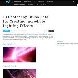 18 Photoshop Brush Sets for Creating Incredible Lighting Effects