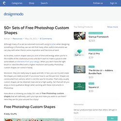 50+ Sets of Free Photoshop Custom Shapes