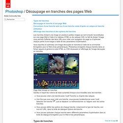 Découpage en tranches des pagesWeb
