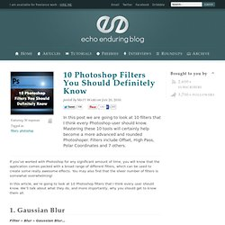 10 Photoshop Filters You Should Definitely Know