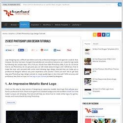 25 Best Photoshop Logo Design Tutorials