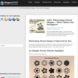 220+ Photoshop Floral Shapes – Best Choice for Designers | Shapes Resources