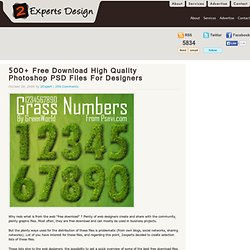 500+ Free Download High Quality Photoshop PSD Files For Designers