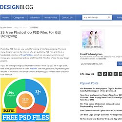 35 Free Photoshop PSD Files For GUI Designing