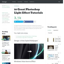Photoshop Light Effect Tutorials | @designshard - StumbleUpon