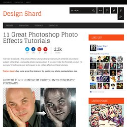 11 Great Photoshop Photo Effects Tutorials | Design Shard