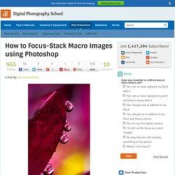 Focus-Stack using Photoshop