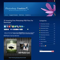 Misc: 25 Amazing Free Photoshop PSD Files For Download - Photoshop Freebies