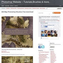 200 Map Photoshop Brushes Free downloadPhotoshop Website