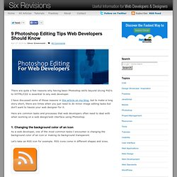 9 Photoshop Editing Tips Web Developers Should Know