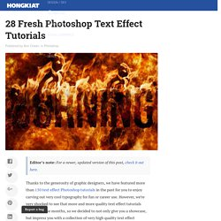 28 Fresh Photoshop Text Effect Tutorials