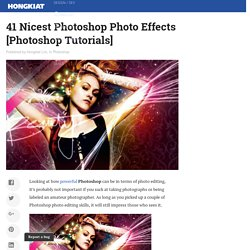 41 Nicest Photoshop Photo Effects [Photoshop Tutorials] - StumbleUpon