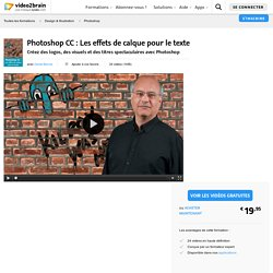 Photoshop CC : Les effets de calque pour le texte-Photoshop