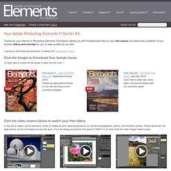 Your Adobe Photoshop Elements 11 Starter Kit