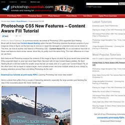 Photoshop CS5 New Features - Content Aware Fill Tutorial