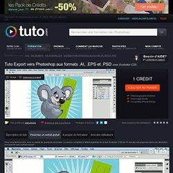 export vers photoshop aux formats .ai, .eps et .psd avec Illustrator CS5 sur Tuto