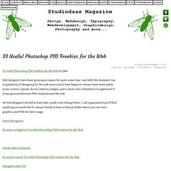 33 Useful Photoshop PSD Freebies for the Web