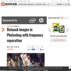 Retouch images with frequency separation