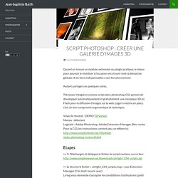 Script photoshop : créer une galerie d'images 3D