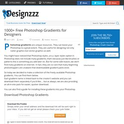 1000+ Free Photoshop Gradients for Designers