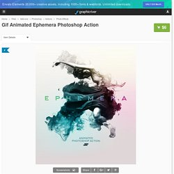 Gif Animated Ephemera Photoshop Action by sreda