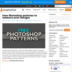 Free Photoshop patterns to enhance your designs