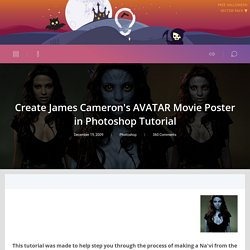 Create James Cameron's AVATAR Movie Poster in Photoshop Tutorial