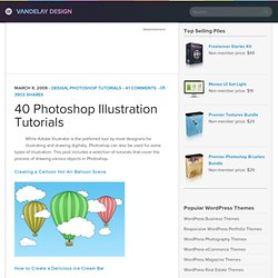 40 Photoshop Illustration Tutorials