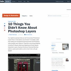 10 Things You Didn't Know About Layers