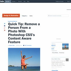 Remove a Person From a Photo With Photoshop CS5's Content Aware Feature