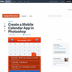 Create a Mobile Calendar App in Photoshop